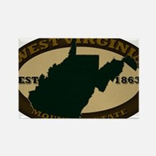 West Virginia Est 1863 Rectangle Magnet