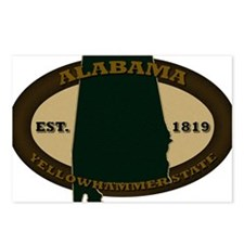Alabama Est 1819 Postcards (Package of 8)