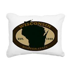 Wisconsin Est 1848 Rectangular Canvas Pillow