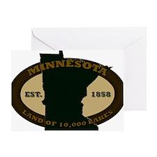 Minnesota Est 1858 Greeting Card