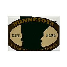 Minnesota Est 1858 Rectangle Magnet
