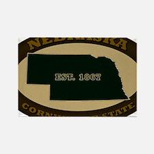 Nebraska Est 1867 Rectangle Magnet
