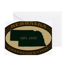 Nebraska Est 1867 Greeting Card