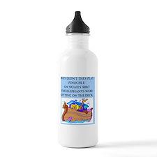 pinochle joke Water Bottle
