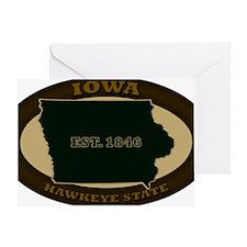 Iowa Est 1846 Greeting Card