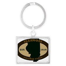 Illinois Est 1818 Landscape Keychain