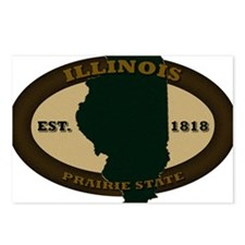 Illinois Est 1818 Postcards (Package of 8)