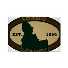 Idaho Est 1890 Rectangle Magnet