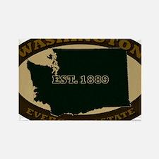 Washington Est 1889 Rectangle Magnet