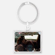 Orangutans Landscape Keychain