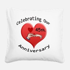 wedding hands 45 Square Canvas Pillow