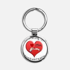 wedding hands 25 Round Keychain