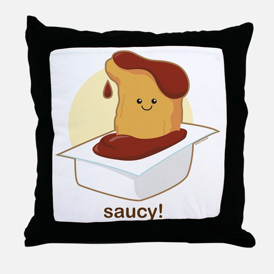 Saucy Throw Pillow