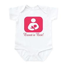 Breastfeeding Symbol in Pink Infant Bodysuit