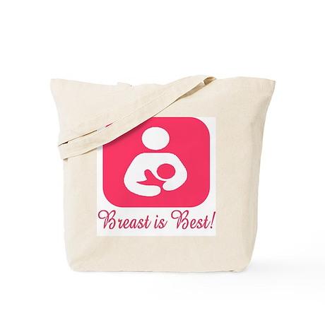 Breastfeeding Symbol in Pink Tote Bag