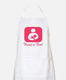Breastfeeding Symbol in Pink BBQ Apron