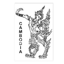 vintageCambodia5 Postcards (Package of 8)