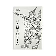 vintageCambodia5 Rectangle Magnet