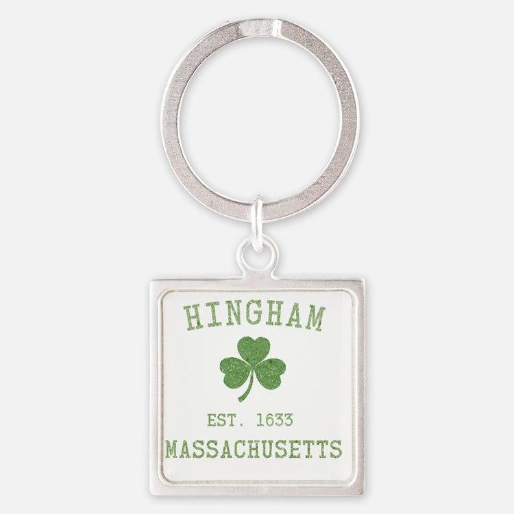 hingham-masschusetts-irish Square Keychain