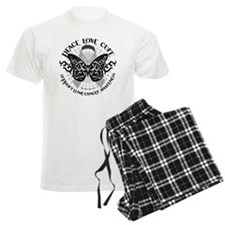 Lung-Cancer-Butterfly-Tribal Pajamas