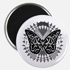 Lung-Cancer-Butterfly-Tribal-blk Magnet