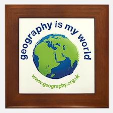 GeographyIsMyWorld Framed Tile