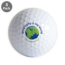 GeographyIsMyWorld Golf Ball