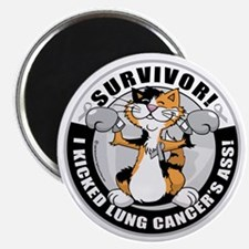 Lung-Cancer-Cat-Survivor Magnet