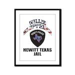 Hewitt Texas Jail Framed Panel Print