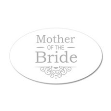 Mother of the Bride silver Wall Sticker