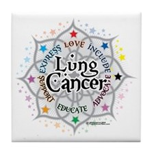 Lung-Cancer-Lotus Tile Coaster