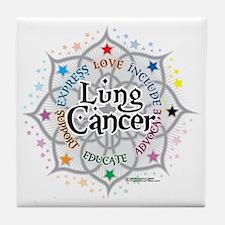 Lung-Cancer-Lotus Tile Coaster