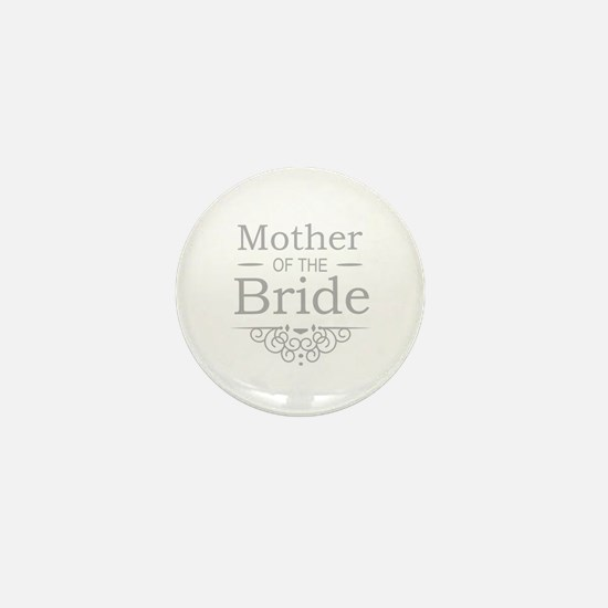 Mother of the Bride silver Mini Button (10 pack)