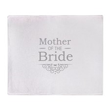 Mother of the Bride silver Throw Blanket