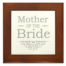 Mother of the Bride silver Framed Tile