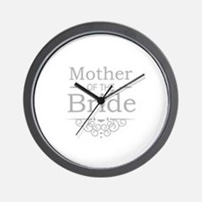 Mother of the Bride silver Wall Clock