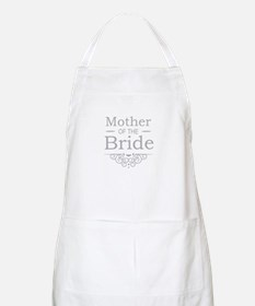 Mother of the Bride silver Apron