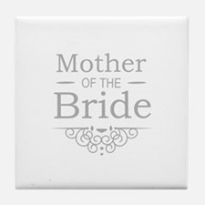Mother of the Bride silver Tile Coaster