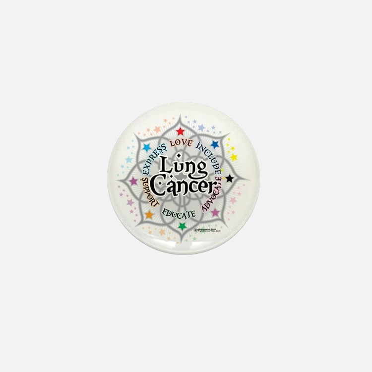 Lung-Cancer-Lotus Mini Button