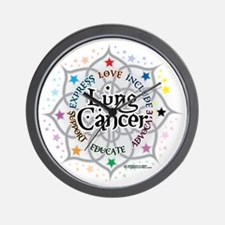 Lung-Cancer-Lotus Wall Clock