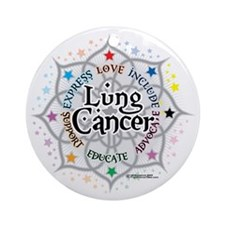 Lung-Cancer-Lotus Round Ornament