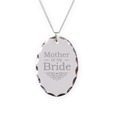 Mother of the Bride silver Necklace Oval Charm