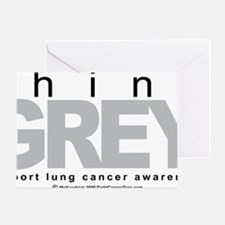 Lung-Cancer-Think-Grey Greeting Card