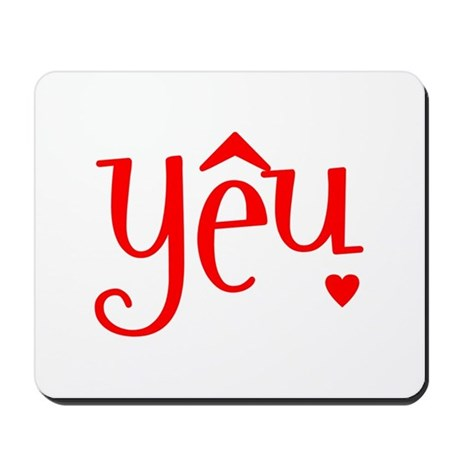 """Love"" in Vietnamese Mousepad"