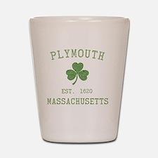 plymouth-massachusetts-irish Shot Glass