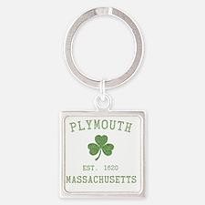 plymouth-massachusetts-irish Square Keychain