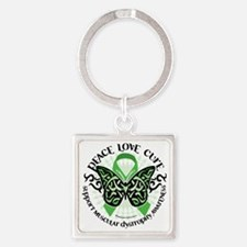 Muscular-Dystrophy-Butterfly-Triba Square Keychain