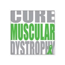 "Cure-Muscular-Dystrophy Square Sticker 3"" x 3"""