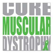 """Cure-Muscular-Dystrophy Square Car Magnet 3"""" x 3"""""""