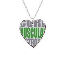 Cure-Muscular-Dystrophy Necklace Heart Charm